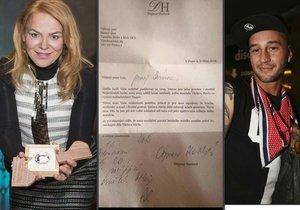 Dagmar Havlová poslala Sámerovi Issovi dopis.