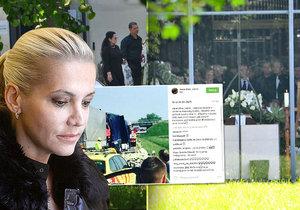 Dara Rolins nestihla pohřeb vlastního táty. Zabránila jí v tom vážná nehoda.