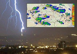 Bouřky nenechají Česko ani na chvíli v klidu, přicházejí další hormy a blesky