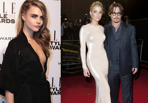 Žárlil Johnny Depp na krásnou kamarádku své ženy?