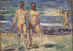 Jeden z nejdražších obrazů světa od Edvarda Muncha: Muži na břehu