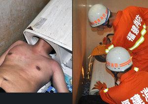 Muži, kterému uvízla v pračce hlava, museli pomoci hasiči.