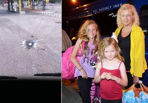 Střelba na český autobus ve Francii: Dcery jsem chránila vlastním tělem