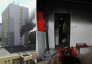 V době, kdy hasiči na místo přijeli, byl už byt zcela zasažený.