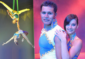 Hororový pád ukončil akrobatické vystoupení Andrey a Diega.