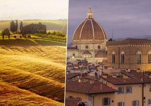 Magicky zvlněná krajina. Lákavá historická městečka a města. Lahodné víno Chianti. To je Toskánsko, jeden z nejhezčích koutů Itálie a Evropy vůbec.