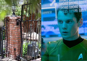Yelchina zabilo jeho auto. Přimáčklo ho na plot k cihlovému sloupku.