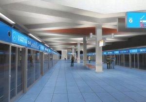 Vizualizace stanice metra D Depo Písnice