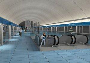 Vizualizace stanice metra D Náměstí Míru
