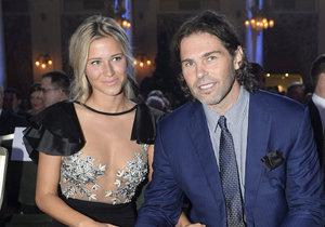 Jaromír s Veronikou  na Zlaté hokejce