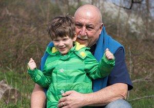 Andy Hryc s vnukem Artemem