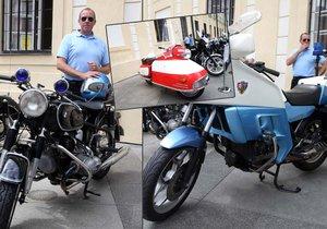 Výstava motocyklů na Hrad přitáhla mnoho návštěvníků.
