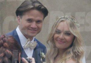 První svatební foto Ondřeje Brzobohatého a Taťány Kuchařové