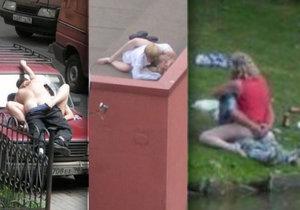 Tyto páry neodolaly kouzlu sexu na veřejnosti.