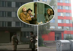 Panelák, do kterého se musely rodiny stěhovat, se nachází v Hennerově ulici v Praze 5.