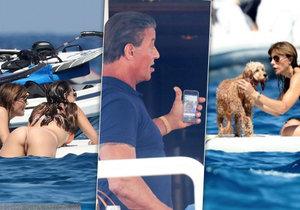 Sylvester Stallone vyvezl svou rodinu na jih Francie. Už chápete, proč si své holky hlídá jako ostříž?