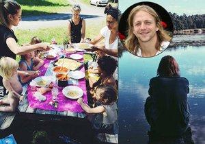 Tomáš Klus vyrazil s rodinou do přírody.