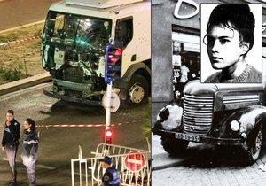 Olga Hepnarová v roce 1973 zavraždila nákladním autem osm lidí, Tunisan v Nice v roce 2016 přes 80.