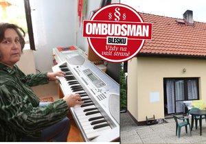 Paní Eva Krátká chtěla prodat rodinný dům a společně s manželem se přestěhovat do bytu ve městě. Prodej ale nevyšel a paní Eva přišla o klavír.