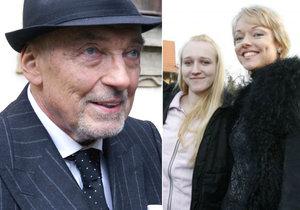 Karel Gott už podruhé obešel nejstarší dcery Dominiku a Lucii. Majetek viditelně přepisuje jen na členy současné rodiny!