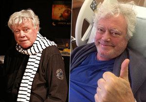 Herec a dabér byl kvůli zdravotním problémům upoutaný na nemocniční lůžko dva měsíce.