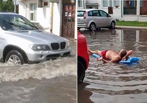 Extrémní bouřky na Slovensku způsobily lokální záplavy.