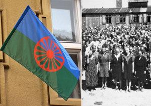 Za oběti holokaustu: Na třech místech Prahy vlají romské vlajky.