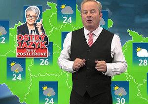 Legendární moderátor Alexandr Hemala dělá v TV Barrandov rosničku.