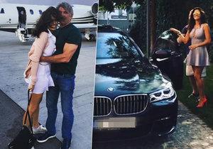 Petra Faltýnová dostala od svého Davida auto.