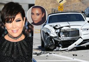 Kris Jenner havarovala se svým luxusním rolls-roycem za šest milionů.