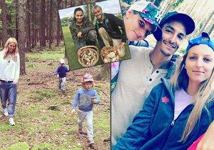 České celebrity vyrazily o víkendu na houby do lesa.