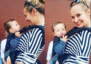 Monika Absolonová přiznala, že osm měsíců po porodu Tadeáše začíná hubnout.