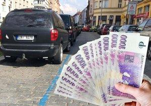 Z peněženky vytáhli 330 milionů: Nejvíce za parkování v zónách řidiči zaplatili v Praze 1