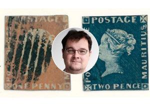 Podle znalce Davida Kopřivy (na snímku) mají obě známky Mauritius Post Office odhadem cenu několika milionů dolarů.