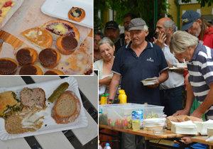 Organizace KRISA uspořádala pro bezdomovce piknik.