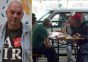 Dan se tento týden zúčastnil pikniku, který pro bezdomovce uspořádali dobrovolníci.