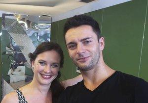 Kristýna Leichtová s tanečníkem Vaškem Masarykem