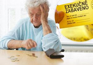 V Česku je 4,67 milionu exekucí. Potýkají se s nimi i senioři.