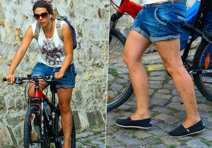 Aneta Langerová na kole
