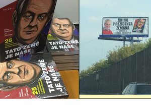 Kniha Miloše Zemana na billboardech