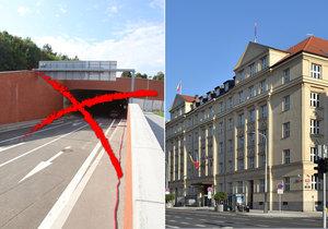 Radnice po magistrátu chce, aby na zkoušku zavřela výjezd tunelu Blanka.