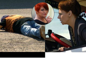 Zawadská při natáčení skončila pod kamionem, který řídila Randová.