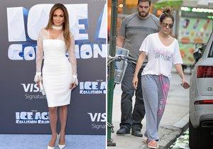 Jennifer Lopez na premiéře filmu a v civilu.