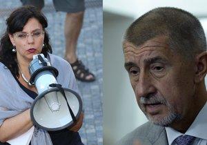 Ministryně práce a sociálních věcí Michaela Marksová (ČSSD) a vicepremiér Andrej Babiš (ANO) jsou teď na nože.