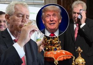 Výsledek obrázku pro Zeman Trump