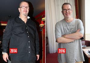 Richard Müller za poslední roky výrazně zhubl.