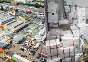 Veterináři a policie zajistili v nelegálním skladu v pražské tržnici Sapa přes 35 tun zmrazeného drůbežího masa, ryb a plodů moře.