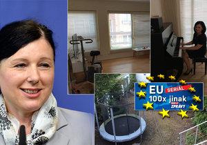 Věra Jourová ukázala, jak v Bruselu bydlí.