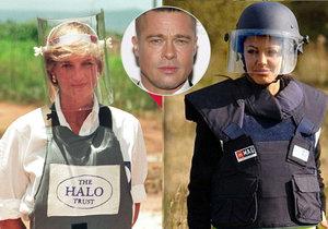 Angelina Jolie chtěla prý být jako Diana a s Bradem mít otevřené manželství.