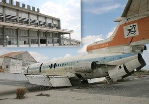 Opuštěné mezinárodní letiště Nikósie na Kypru